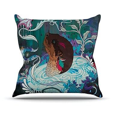 KESS InHouse Delicate Distraction by Mat Miller Otter Throw Pillow; 26'' H x 26'' W x 5'' D