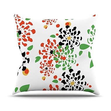 KESS InHouse Multi Bouquet by Sonal Nathwani Throw Pillow; 26'' H x 26'' W x 5'' D