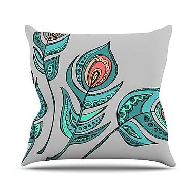 KESS InHouse Feathers by Brienne Jepkema Throw Pillow; 26'' H x 26'' W x 1'' D