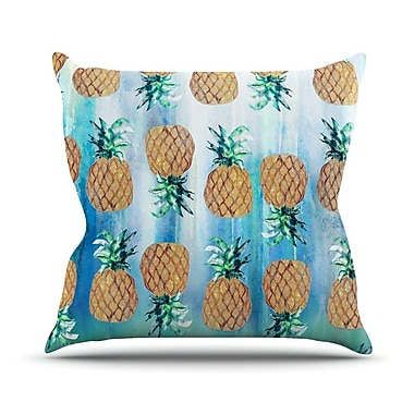 KESS InHouse Pineapple Beach by Nikki Strange Throw Pillow; 20'' H x 20'' W x 4'' D