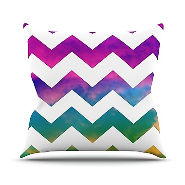 KESS InHouse Lucky Chevron by Beth Engel Throw Pillow; 16'' H x 16'' W x 1'' D