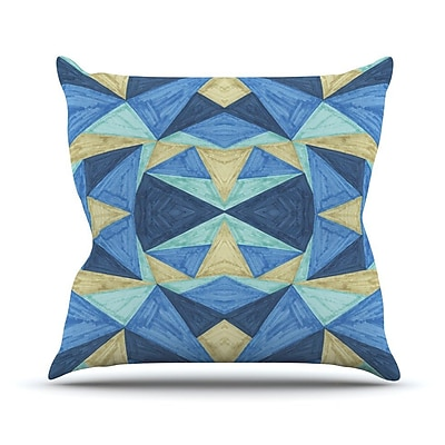 KESS InHouse The Blues by Empire Ruhl Throw Pillow; 20'' H x 20'' W x 1'' D