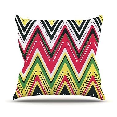 KESS InHouse Jamaican Me Crazy by Heidi Jennings Throw Pillow; 16'' H x 16'' W x 3'' D