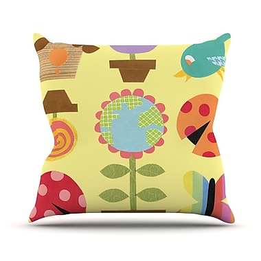 KESS InHouse Spring Repeat by Jane Smith Throw Pillow; 16'' H x 16'' W x 3'' D