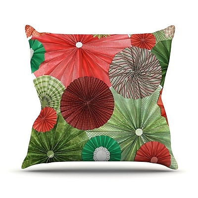 KESS InHouse Christmas Remix by Heidi Jennings Holiday Throw Pillow; 26'' H x 26'' W x 5'' D