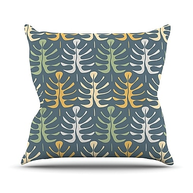 KESS InHouse My Leaves by Julia Grifol Throw Pillow; 16'' H x 16'' W x 3'' D