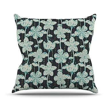 KESS InHouse My Spotted Flowers by Julia Grifol Throw Pillow; 18'' H x 18'' W x 3'' D