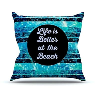 KESS InHouse Life is Better at the Beach by Ebi Emporium Throw Pillow; 26'' H x 26'' W x 5'' D