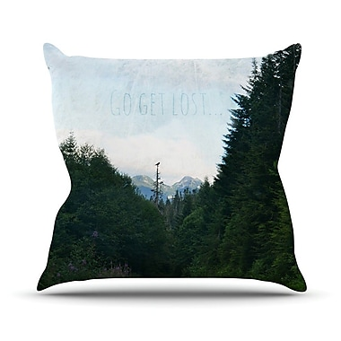 KESS InHouse Go Get Lost by Robin Dickinson Forest Throw Pillow; 16'' H x 16'' W x 3'' D