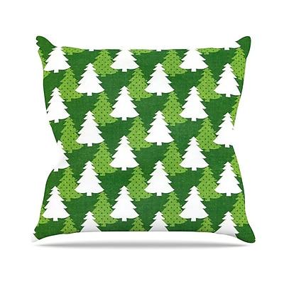 KESS InHouse Pine Forest by Heidi Jennnings Throw Pillow; 26'' H x 26'' W x 5'' D