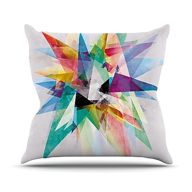 KESS InHouse Colorful by Mareike Boehmer Rainbow Abstract Throw Pillow; 16'' H x 16'' W x 3'' D