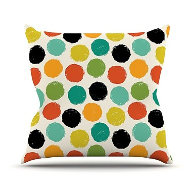 KESS InHouse Retro Dots Repeat Throw Pillow; 26'' H x 26'' W x 1'' D