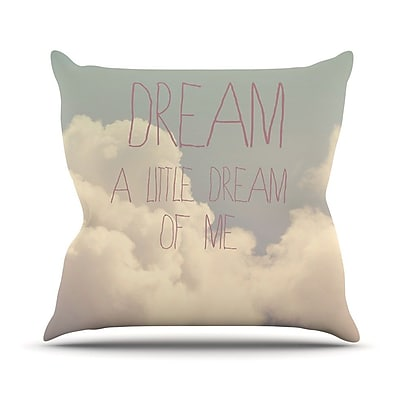KESS InHouse Dream of Me by Rachel Burbee Throw Pillow; 16'' H x 16'' W x 3'' D