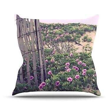 KESS InHouse Morning at the Beach by Ann Barnes Flowers Throw Pillow; 26'' H x 26'' W x 1'' D