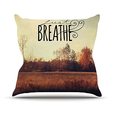 KESS InHouse Just Breathe by Sylvia Cook Throw Pillow; 18'' H x 18'' W x 3'' D