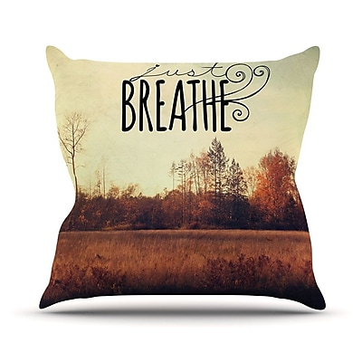 KESS InHouse Just Breathe by Sylvia Cook Throw Pillow; 20'' H x 20'' W x 4'' D