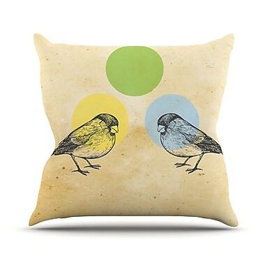 KESS InHouse By Sreetama Ray Paper Birds Throw Pillow; 20'' H x 20'' W x 4'' D