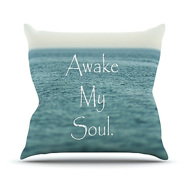 KESS InHouse Awake My Soul by Debbra Obertanec Throw Pillow; 18'' H x 18'' W x 1'' D