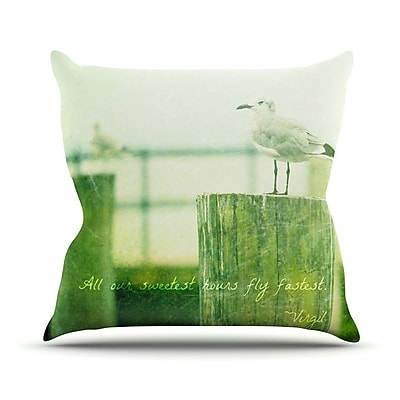 KESS InHouse Sweetest Hours by Robin Dickinson Seagull Throw Pillow; 18'' H x 18'' W x 3'' D