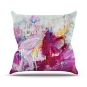 KESS InHouse Magenta Paint Indoor/Outdoor Throw Pillow; 14'' H x 20'' W x 3'' D