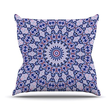 KESS InHouse Kaleidoscope by Iris Lehnhardt Circle Throw Pillow; 16'' H x 16'' W x 3'' D