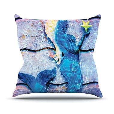 KESS InHouse Mermaid Starlight by Anne LaBrie Throw Pillow; 26'' H x 26'' W x 1'' D
