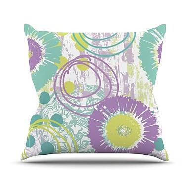 KESS InHouse Splatter by Chickaprint Throw Pillow; 20'' H x 20'' W x 4'' D