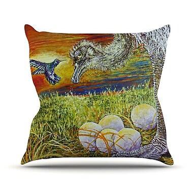 KESS InHouse Ostrich by David Joyner Throw Pillow; 16'' H x 16'' W x 1'' D
