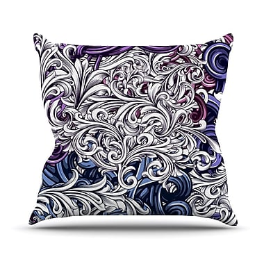 KESS InHouse Celtic Floral I by Nick Atkinson Abstract Throw Pillow; 18'' H x 18'' W x 3'' D