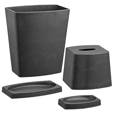 Kraftware Bath and Home 4-Piece Bathroom Accessory Set; Ash