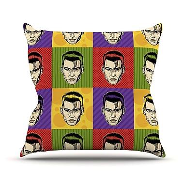 KESS InHouse Johnny Depop by Roberlan Pop Art Throw Pillow; 16'' H x 16'' W x 3'' D