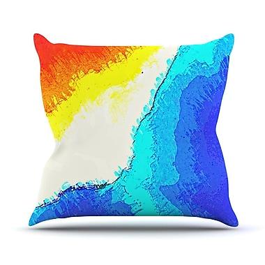 KESS InHouse Amalfi Coast by Oriana Cordero Throw Pillow; 18'' H x 18'' W x 3'' D