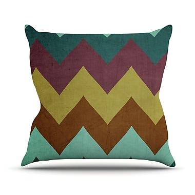 KESS InHouse Mountain High by Catherine McDonald Art Object Throw Pillow; 16'' H x 16'' W x 1'' D