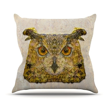 KESS InHouse Abstract Owl by Ancello Throw Pillow; 18'' H x 18'' W x 1'' D