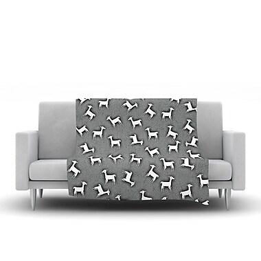 KESS InHouse Llama Multi by Monika Strigel Fleece Throw Blanket; 40'' H x 30'' W x 1'' D