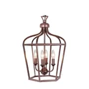 MarianaHome Cage 4-Light Wall Lantern; Oil Rubbed Bronze