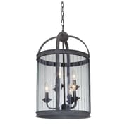 MarianaHome Wesley 6-Light Foyer Pendant; Vintage Iron