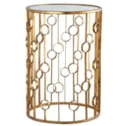 MarianaHome O Collection End Table; Gold