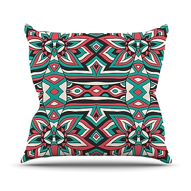 KESS InHouse Ethnic Floral Mosaic by Pom Graphic Throw Pillow; 16'' H x 16'' W x 3'' D