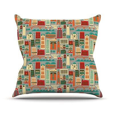 KESS InHouse My Fair Milwaukee City Throw Pillow; 26'' H x 26'' W x 1'' D