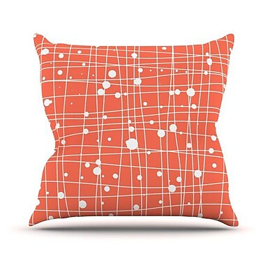 KESS InHouse Woven Web Cotton Throw Pillow
