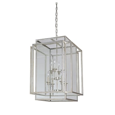 MarianaHome 8-Light Hanging Pendant; Antique Silver