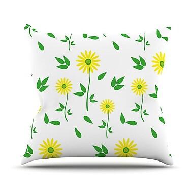 KESS InHouse Daisy by Louise Throw Pillow; 16'' H x 16'' W x 3'' D