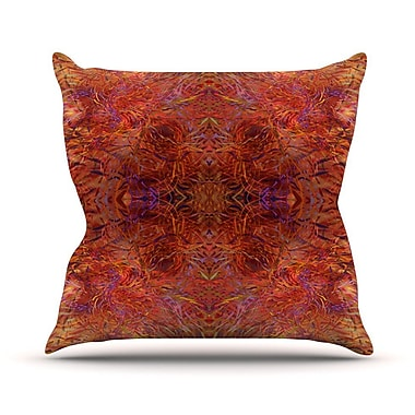 KESS InHouse Sedona by Nikposium Throw Pillow; 16'' H x 16'' W x 3'' D