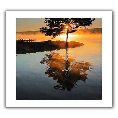 ArtWall Mists On Fire' by Steven Ainsworth Photographic Print on Rolled Canvas; 36'' H x 52'' W