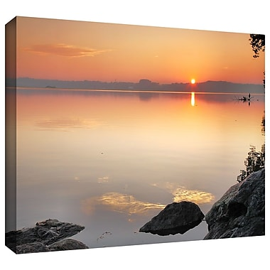 ArtWall 'Potomac Sunrise' by Steven Ainsworth Photographic Print on Wrapped Canvas; 32'' H x 48'' W