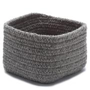 Colonial Mills Natural Shelf Square Basket  ; Dark Gray
