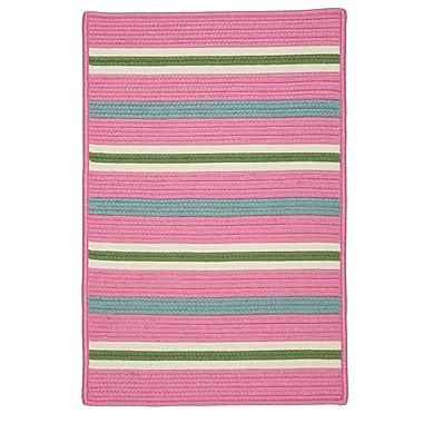Colonial Mills Painter Stripe Spring Pink Indoor/Outdoor Area Rug; 4' x 6'