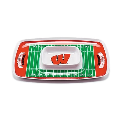 BSI Products NCAA Melamine Chip and Dip Platter; Wisconsin Badgers