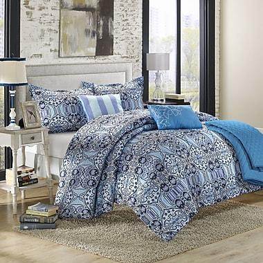 Chic Home Lynwood 6 Piece Reversible Comforter Set; Queen